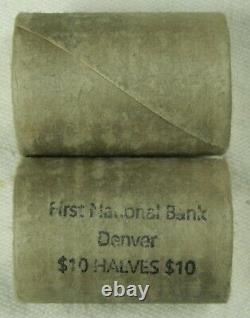 1 Silver Half Dollar Roll Franklin Walking Liberty Barber 90% BU D Franklin Ends