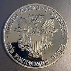 2000 1 Troy Pound. 999 Silver Round American Eagle Walking liberty