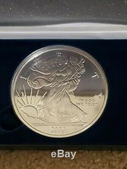 2002 Giant Walking Liberty. 999 Fine Silver Eagle Coin half Troy pound