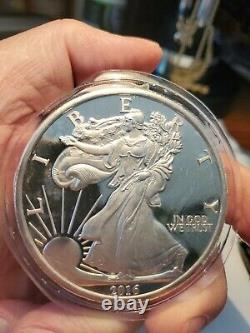2016 5 Troy OZ. WALKING LIBERTY SILVER BULLION ROUND COIN Sealed Super Nice