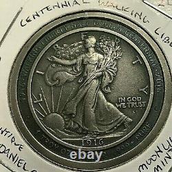 2016 Daniel Carr Walking Liberty Half Centennial 1 Oz Silver Moonlight Mint