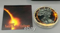2017 TOTAL SOLAR ECLIPSE American Silver Eagle Walking Liberty $1 Silver Coin