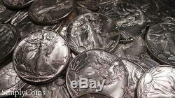 (20) Walking Liberty Silver Half Dollar Roll AU About Uncirculated Coin Lot