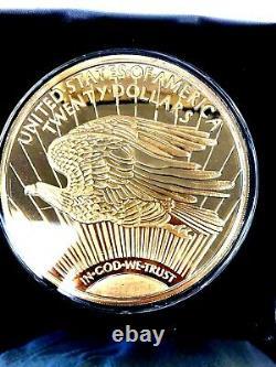 4oz Walking Liberty. 999 Silver Gold Plated Layer Round Bullion