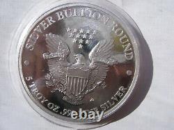 5 oz. Highland Mint. 999 2018 Silver Walking Liberty Prooflike Round Beautiful