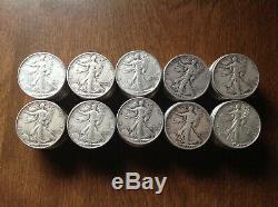 90% Silver WALKING LIBERTY HALF DOLLARS $50 Face-Value Bag 100 Half-Dollars