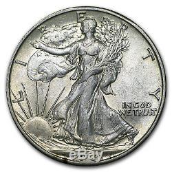 90% Silver Walking Liberty Halves $10 20-Coin Roll AU SKU #43926