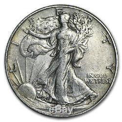 90% Silver Walking Liberty Halves $10 20-Coin Roll XF SKU #43925