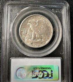 About Uncirculated 1916-S Walking Liberty Half Dollar Certified PCGS AU50