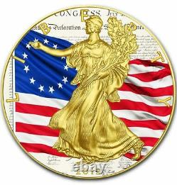 American Silver Eagle BETSY ROSS 1777 US FLAG 2019 Walking Liberty Dollar Coin
