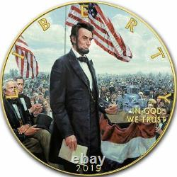 American Silver Eagle LINCOLN GETTYSBURG ADDRES 2019 Walking Liberty Dollar Coin