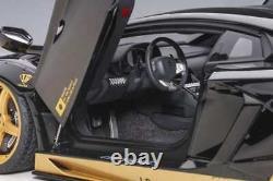 Autoart Liberty Walk LB-Works Lamborghini Aventador Black /Gold accents 1/18 New