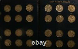 Complete Set 65 US WALKING LIBERTY Half Dollars Key Dates 1916-1947 ANACS 1921-D