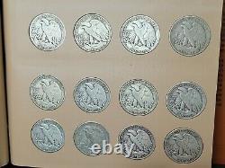 Complete Set Walking Liberty Half Dollars (1941-1947) Dansco Album! 90% Silver