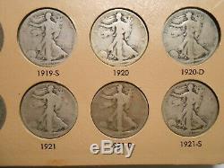 Complete Set Walking Liberty Half Dollars #6 AG-VF