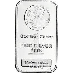 FIVE (5) 1 oz. Highland Mint Silver Bar Walking Liberty Design. 999+ Fine