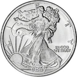 FIVE (5) 1 oz. Highland Mint Silver Round Walking Liberty Design. 999 Fine