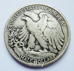 Key Date! 1921-p U. S. Walking Liberty Silver Half Dollar Fine Condition