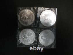 LOT OF 4 2015 1 oz. 999 Silver Uncirculated Walking Liberty American Eagle