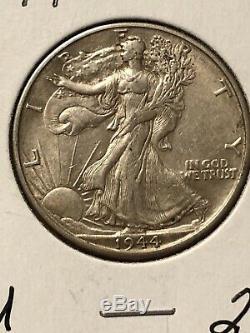 Lot Of (10) Walking Liberty Silver Half Dollars. Half Roll Higher Grade Coins