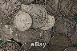 MAKE OFFER 3 Troy Ounces Silver Walking Liberty Halves Washington Quarters Junk
