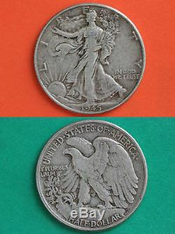 MAKE OFFER $4.00 Face Value 90% Silver Walking Liberty Half Dollars Junk Coins