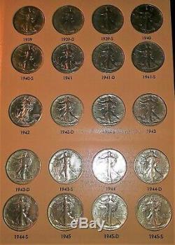 Nearly Complete Set Of Liberty Walking Half Dollars (1916-1947) In Dansco Album
