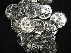 ONE FNB SF PRE-1960 Full GEM BU Walking Liberty Franklin 20 Half Dollar Roll