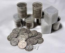 Roll of 20 $10 Face Value FULL DATE. 90% Silver Walking Liberty Half Dollars