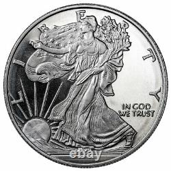 Roll of 20 Highland Mint Walking Liberty 1oz Silver Round Brilliant Uncirculated
