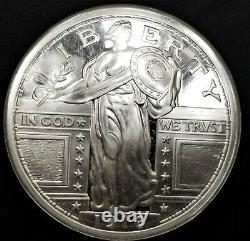 Silver Walking Liberty 1916 One Troy Pound Round, 11.5oz silver FUN