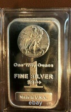 TEN (10) 1 oz. Highland Mint Silver Bar Walking Liberty Design. 999 Fine