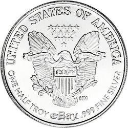 TWENTY (20) 1/2 oz Highland Mint Silver Round Walking Liberty. 999 Roll of 20