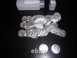 Tube of Fifty (50) Walking Liberty 1/10 oz. 999 Fine Silver Rounds, New, UNC