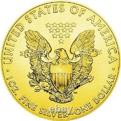 USA APOLLO-11 MOON American Silver Eagle 2019 Walking Liberty $1 Dollar Coin G