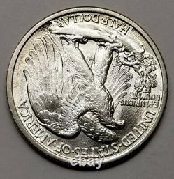 U. S. 1916-D Walking Liberty Silver Half Dollar 50c Key Date