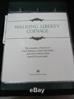 Walking Liberty Coinage PCS Set Walking Liberty Halves and Silver Eagles