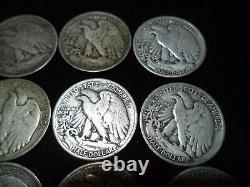 Walking Liberty Half Dollar Roll (LOT OF 20) 90% Silver Coins