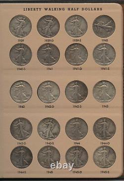 Walking Liberty Half Dollar Set 1916 1947 Collection & 7160 Dansco Album AT92