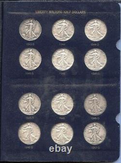 Walking Liberty Half Dollar Set 1916 1947 Collection & Whitman Album MB448