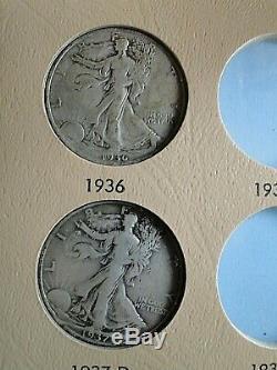 Walking Liberty Half Dollars 1916-1947 Partial Set of 31 Dansco Album, Silver