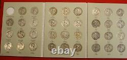 Walking Liberty Half Dollars 1916-36 New Harris Complete Folder Book Album Wl6
